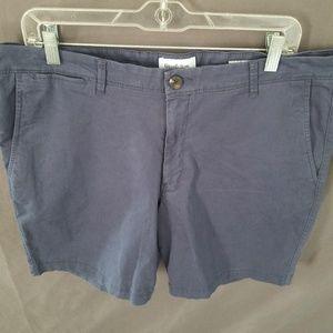 Goodfellow Flat Front Shorts Dark Blue 36
